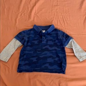 Boys Baby GAP long sleeve camouflage polo